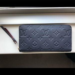 Louis Vuitton LV Zippy Wallet Marine Blue w/ Red